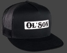 Ol' Son Patch Black Mesh Flatbill