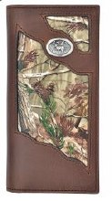 Badger Western Wallet w/ Deer Concho