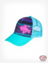 Cowgirl Tuff Purple/Turquoise Serape Trucker Capt