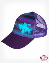 Cowgirl Tuff Purple Serape Trucker Cap