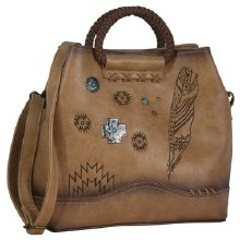 Catchfly Angel Fire Satchel Burnished Tan