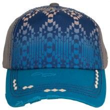 Catchfly Ponytail Cap Gray Turquoise Aztec