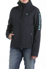 Women's Concealed Carry Bonded Jacket Black Aztec