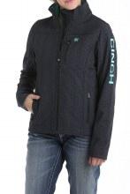 Women's Concealed Carry Bonded Jacket Black Aztec
