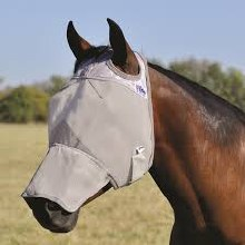 Crusader Fly Mask- Horse Size w/ Long Nose