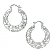 Montana Silversmiths Filigree Hoop Earrings