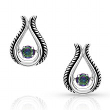 Montana Silversmiths Northern Lights Topaz Bud Earrings
