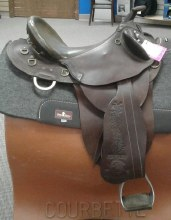 "Fox Poley Aussie Saddle 17"" Used"