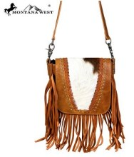 Montana West Genuin Hair-on Leather Design w/ Fringe