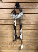 Alamo Saddlery Wave Style Faux Snake Skin Headstall