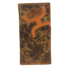 Hooey Rodeo Wallet Brown/Orange