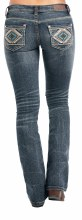 Rock and Roll Aztec Embroidered Boot Cut Jeans 27X34