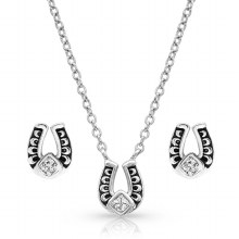 Montana Silversmiths Horseshoe Jewerly Set