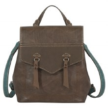 Justin Backpack Chocolate/Turquoise