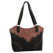 Justin Tote Black and Chestnut