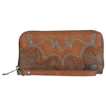 JUSTIN WALLET TAWNY BOOTSTITCH