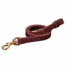 Burgandy Latigo Leather Tie Down Strap