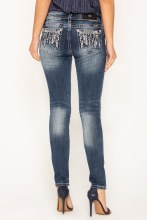 """Miss Me """"Feather Me Up"""" Skinny Jeans"""
