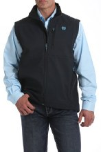 Men's Bonded Vest Charcoal/Electric Blue L