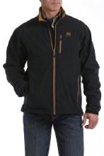 Men's Concealed Carry Bonded Jacket Black/Gold M