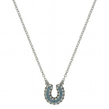 Montana Silversmiths Buckstitched Looped Horseshoe Necklace