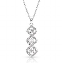 Montana Silversmiths Triple Twist Starlight Necklace