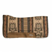 Contoured Herculon Saddle Pad-Coffee