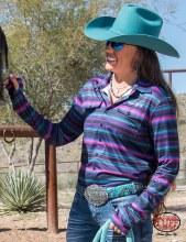 Cowgirl Tuff Purple Serape PullOver