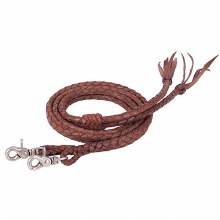 Round Braided Latigo Split Reins