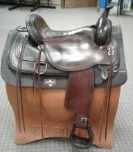 """Circle Y Flex Saddle 17"""" Used"""