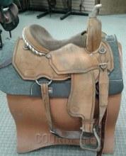 "Talmadge Barrel Saddle 15"" Used"