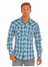 Mens Rock and Roll Cowboy Plaid S