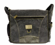 Charcoal Grey Canvas Shoulder Bag