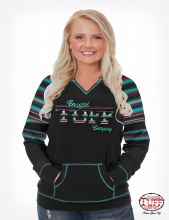 Cowgirl Tuff Black & Green Serape Long Sleeve Tee