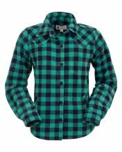 Outback Trading Company Fleece Big Shirt Turquoise