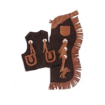 Youth Brown Vest and Chap Set