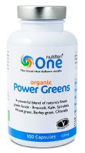 One Nutrition Organic Power Greens 100 Capsules