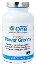 One Nutrition Organic Power Greens 200 Capsules