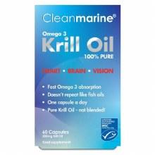 Cleanmarine 100% Krill Oil 60 Capsules