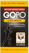 GOPO Joint Health Rose-Hip with Vitamin C 120 Capsules
