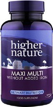 Higher Nature Maxi Multi Iron Free Multivitamin & Mineral Complex 90 Tablets