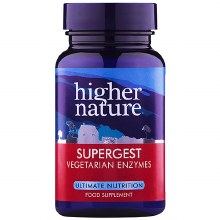 Higher Nature Supergest Vegetarian Enzymes (30 Capsules)