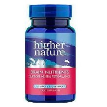 Higher Nature Brain Nutrients 90 Capsules