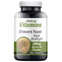 Lifeplan Vitamins Brewers Yeast High Strength 300mg 500 Tablets