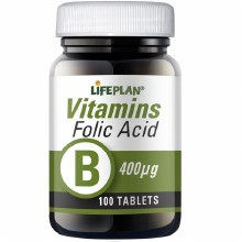 Lifeplan Folic Acid 400ug (100 Tablets)