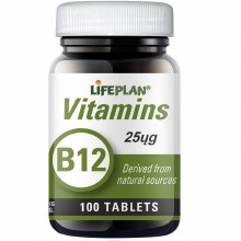 Lifeplan Vitamin B12 25ug (100 Tablets)