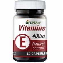 Lifeplan Vitamin E400IU 60 Capsules