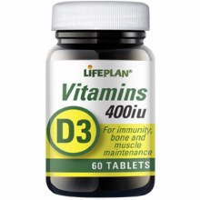 Lifeplan Vitamin D 400IU 60 Tablets