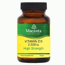Macanta Vitamin D3 2500iu Vegan 30 Capsules