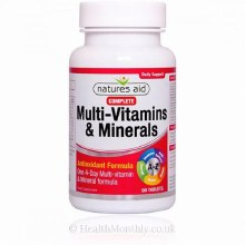 Natures Aid Complete Multi-Vitamins and Minerals - Antioxidant formula (90 Tablets)